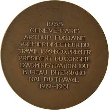 IIIe République, mort d'Arthur Fontaine (Mines), 1933