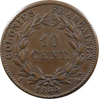 Colonies françaises, Louis-Philippe, 10 centimes, 1844 Paris