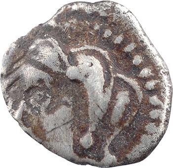 Lémovices ou Bituriges, drachme anépigraphe à l'épée et annelet pointé, Ier s. av. J.-C.