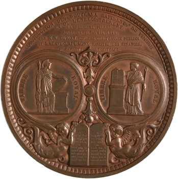 Louis-Philippe Ier, construction des nouveaux bâtiments du timbre royal et de l'enregistrement, 1846 Paris