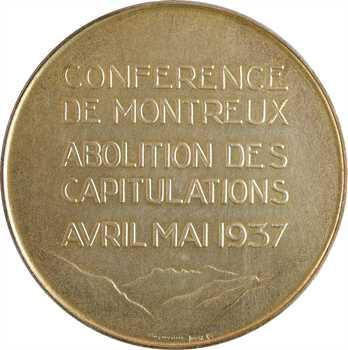 Égypte, conférence de Montreux, par Huguenin, 1937 Le Locle
