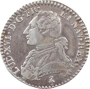 Louis XVI, dixième d'écu aux branches d'olivier, 1785, 1er semestre, Paris