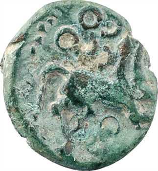 Bellovaques, quart de statère en bronze à l'astre, c.80-50 av. J.-C