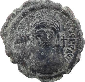 Justinien Ier, demi-follis, Thessalonique, An XXXVI = 562-563