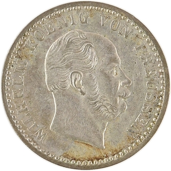 Allemagne, Prusse (royaume de), Guillaume Ier, 2 1/2 gros d'argent, 1864 Berlin