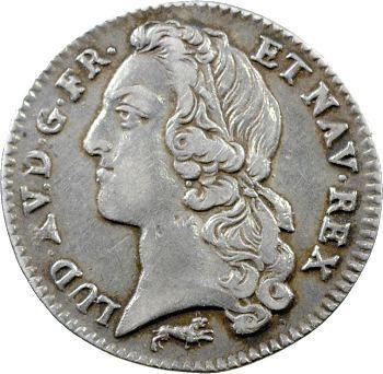 Louis XV, cinquième d'écu au bandeau, 1760 Orléans