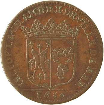Bar (duché de), Chambre de la ville, jeton, 1680