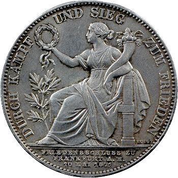 Allemagne, Bavière (royaume de), Louis II, thaler historique, 1871 Munich