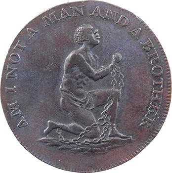 Grande-Bretagne, penny-token de la société pour l'abolition de l'esclavage