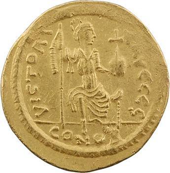 Justin II, solidus, Constantinople, 6e officine, 575-578