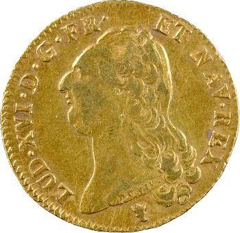 Louis XVI, double louis à la tête nue, 1786 Limoges