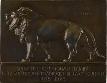 Peter (V.) : Lion en marche, cinquantenaire de la Compagnie Zurich, 1878-1928 Paris (Canale)