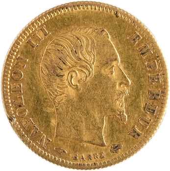 Second Empire, 5 francs tête nue, grand module, 1859 Paris