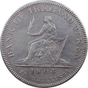 Irlande, Georges III, six shillings, 1804
