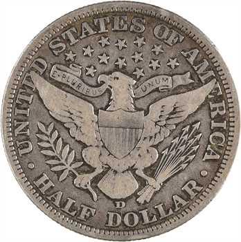 États-Unis, demi-dollar Liberty head (Barber), 1906 Denver