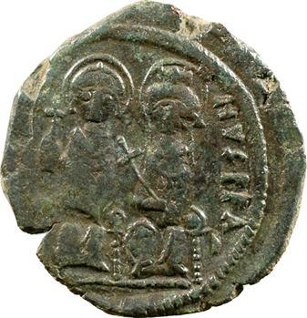 Justin II et Sophie, follis, Constantinople, 571-572