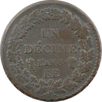 Le Directoire, un décime Dupré, An 8 Strasbourg