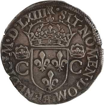 Charles IX, teston 2e type, 1563 Toulouse