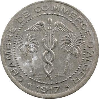 Algérie, Chambre de Commerce d'Alger, 5 centimes en zinc, 1917 Paris
