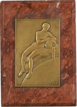Niclausse (F. P.) : la grande source de Vittel, presse-papiers, s.d