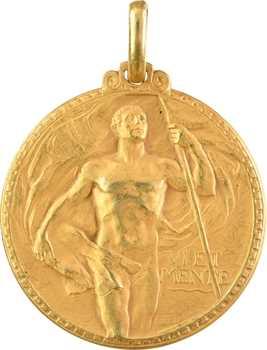 Italie, le Touring Club Italien au Commandant du Saturnia, par G. Castiglioni, en or, 1931