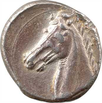 Sicile, monnayage siculo-punique, tétradrachme, IVe s. av. J.-C