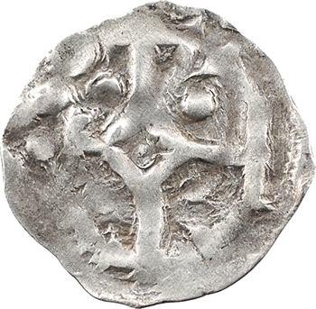 Normandie (duché de), Richard Ier, denier au grand monogramme carolin au droit, s.d. (943-996) Rouen
