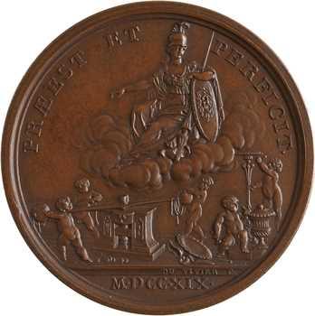 Brésil, visite de la Monnaie de Paris par le couple impérial, 1872 Paris