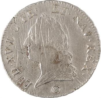 Louis XV, écu à la vieille tête, 1771 Perpignan