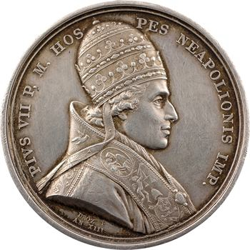 Premier Empire, le sacre de Napoléon Ier par Pie VII, et médaille de mariage, An XIII (1804)-1835 Paris