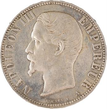 Second Empire, 5 francs tête nue, 1856 Paris