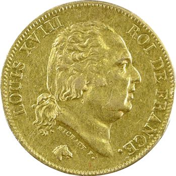 Louis XVIII, 40 francs, 1824 Paris