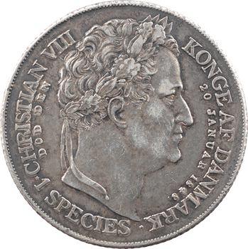 Danemark, Frédéric VII, speciestaler, 1848 Copenhague