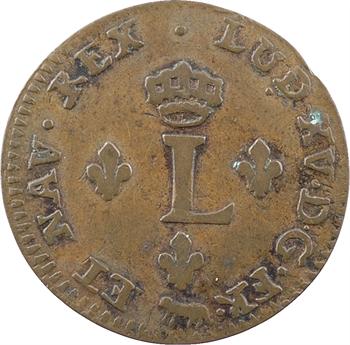 Louis XV, double sol de billon, 1755 Paris, faux d'époque ?