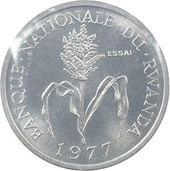 Rwanda (République du), essai de 1 franc, 1977 Paris