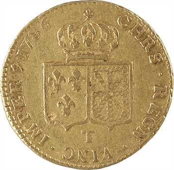 Louis XVI, double louis d'or à la tête nue, 1786 Nantes