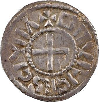 Charles le Chauve (ou Charles le Gros), denier hybride à la double légende, s.d. (875-887) Bourges
