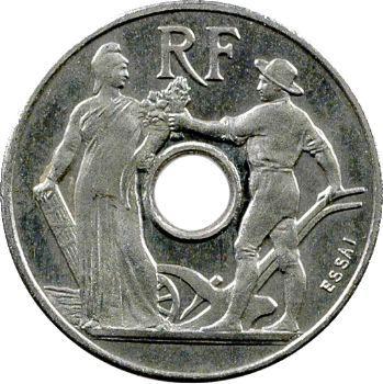 IIIe République, essai de 25 centimes par Peter, petit module, 1913 Paris