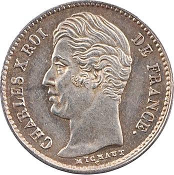 Charles X, 1/4 de franc, 1827 Paris