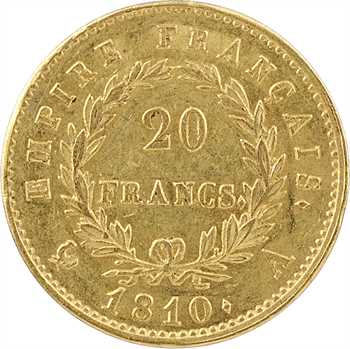 Premier Empire, 20 francs Empire, 1810 Paris