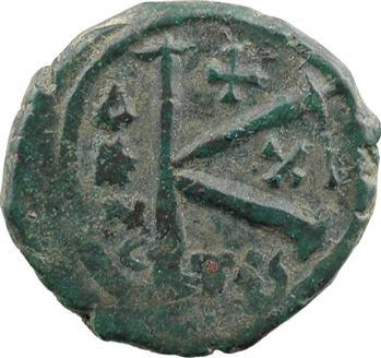 Maurice-Tibère, demi-follis type 2, Thessalonique, An XI = 592-593
