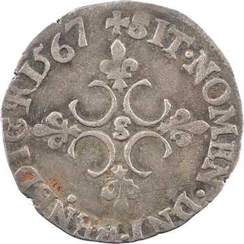 Charles IX, sol parisis 1er type, (janvier à novembre) 1567 Troyes