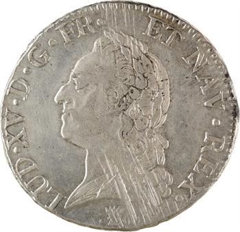 Louis XV, écu à la vieille tête, 1772 Limoges