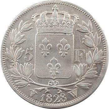 Charles X, 5 francs 2e type, 1828 Lille