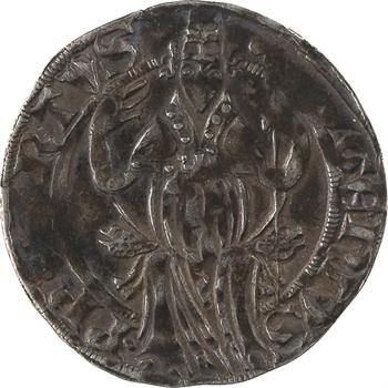 Comtat Venaissin, Eugène IV, gros ou carlin, s.d. (1431-1447) Avignon
