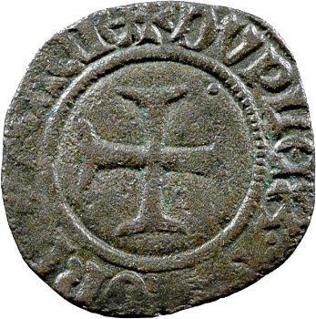 Charles VI, double tournois dit niquet, Auxerre