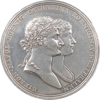 Allemagne, Westphalie, visite de Jérôme Napoléon et Catherine aux mines de Clausthal, par Körner, 1811