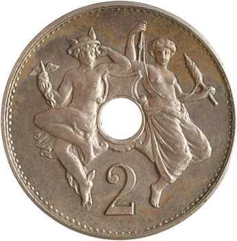 IIIe République, essai de 2 centimes par Michelin, s.d. (1889 Paris