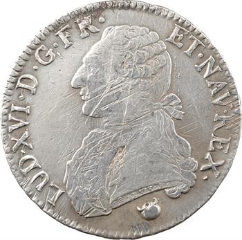 Louis XVI, écu aux branches d'olivier, 1778 Perpignan