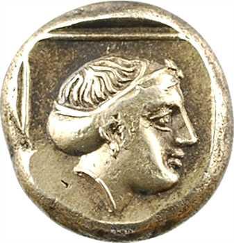 Lesbos, Mytilène, hecté en électrum, c.377-326 av. J.-C